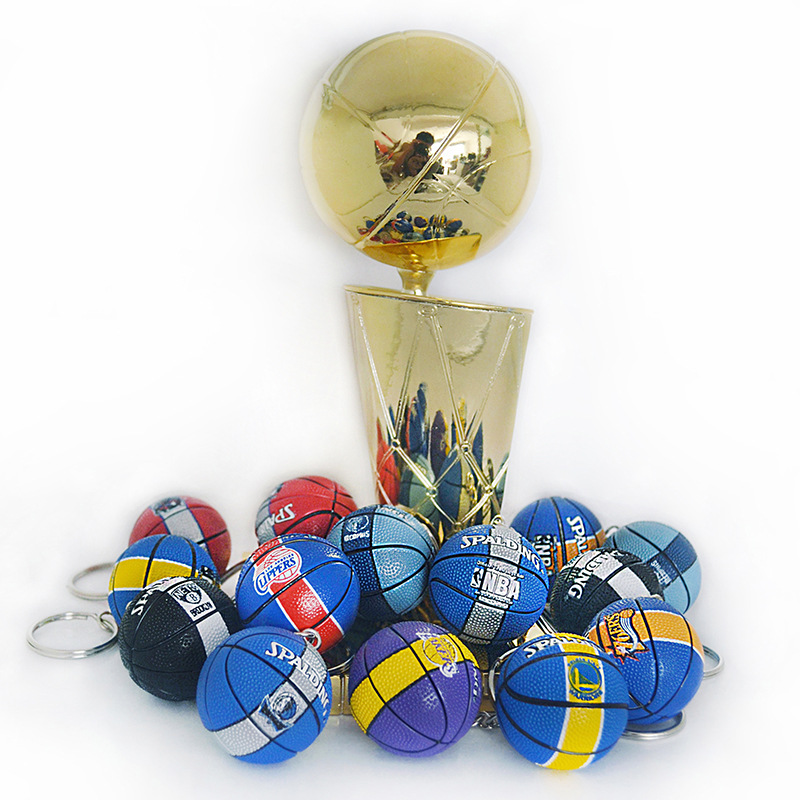 Currently Available NBA (Ball Game) Fan Supplies Gift Souvenirs Warriors Rocket Lakers Basketball Keychain Pendant Wholesale On