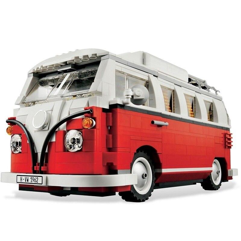 1354pcs Technic Series VW Volkswagen T1 Camper Van Car Model Building Blocks Set