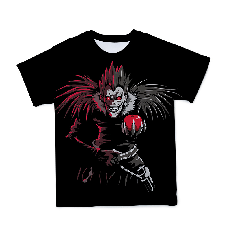Camiseta con personalidad 3DT para hombre, mujer y niño, dibujo de Anime, transpirable, elástico, 5% licra, 95% poliéster, Death Note