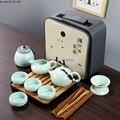 Керамический дорожный чайный набор кунг-фу портативный чехол простой домашний заварник чашка для путешествий автомобиля бамбуковый чайны...
