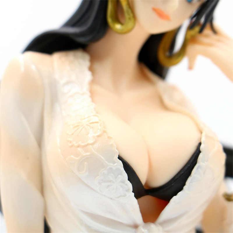 12CM une pièce Boa Hancock maillot de bain Sexy assis Ver. Figurine en PVC longues jambes déesse Anime impératrice modèle de filles Sexy