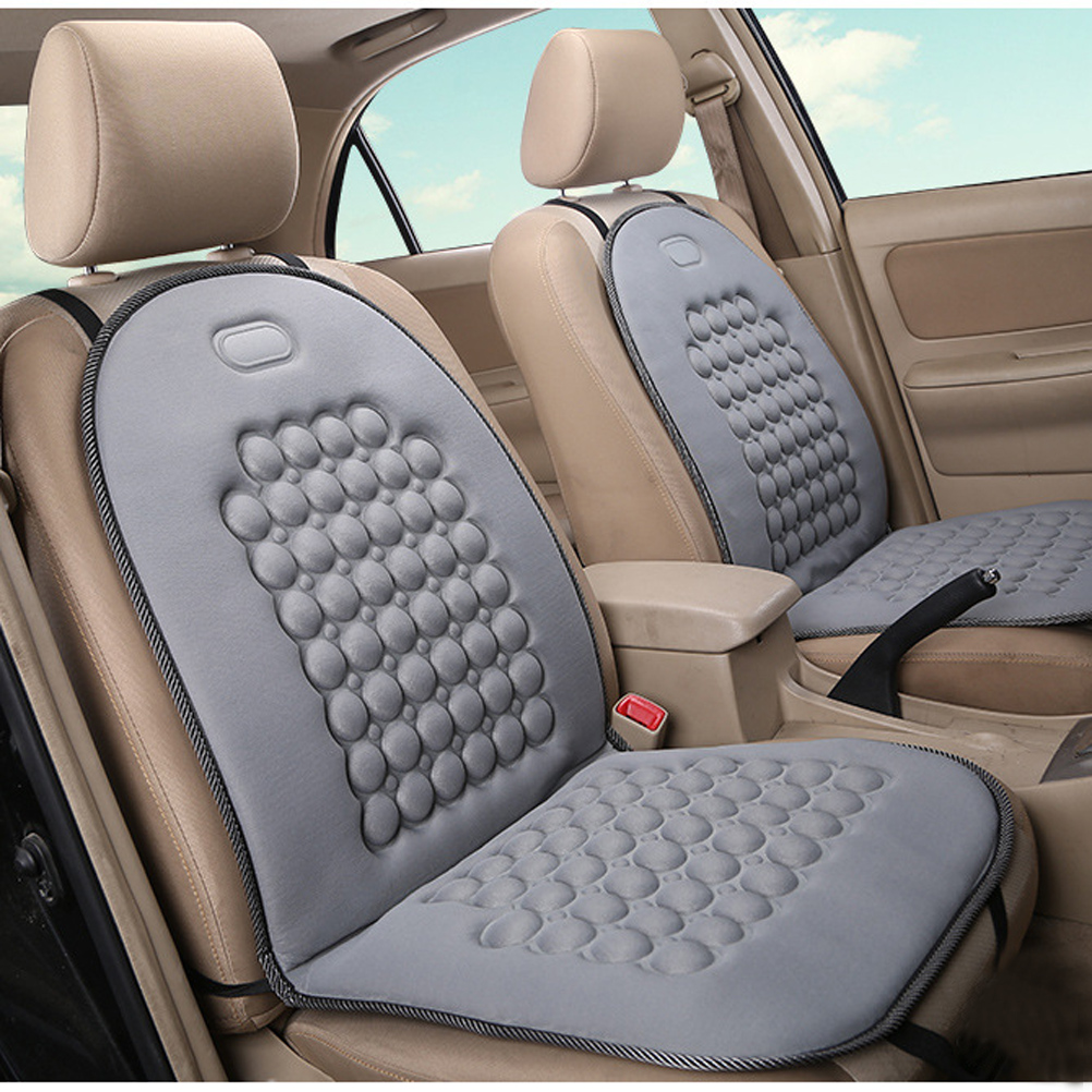 UNIVERSAL COMFORTABLE CAR VAN SEAT COVER BLACK MASSAGE HEALTH CUSHION PROTECTOR