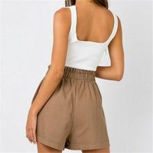 Shorts High Waist Casual Pocket Ruffle Short Pants SF