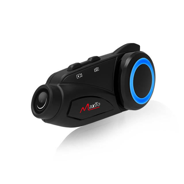 Maxto M3 Motorcycle Helmet Intercom Bluetooth WIFI Recorer Group 6 Riders Moto Interphone 1080P DVR Dash Camera Fit V8 V6 BST3