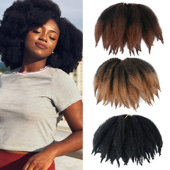 wignee 3 pcs lot spring curl crochet twist braids synthetic hair extensions for women high temperature kinky curly hair bundles ONXY Afro Kinky Curl Twist Marely Braids Fluffy Crochet Braid Hair Yaki Curl Crochet Synthetic Braiding Hair for Women