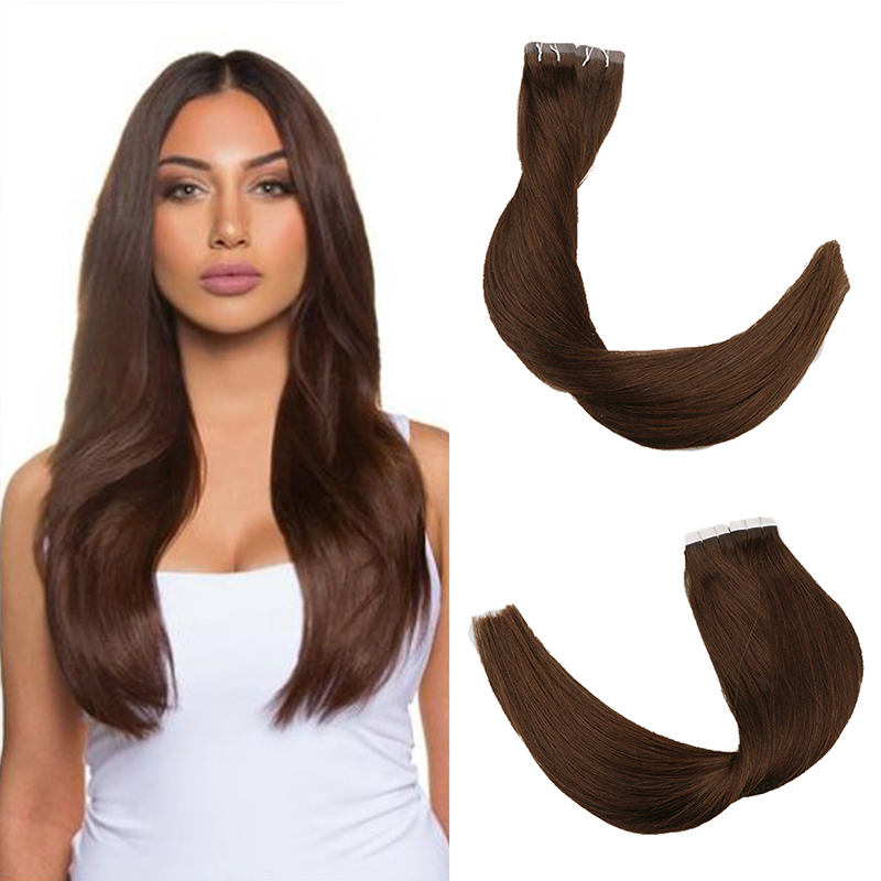 Toysww Machine Remy Skin Weft Tape Hair Extensions Straight Remy Hair 20/40pcs Invisible Tape In Hair Extensions Color 2