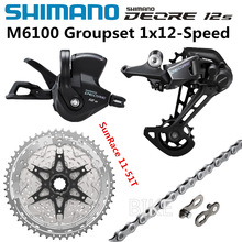 SHIMANO DEORE M6100 Groupset 11-50T 11-51T Mountain Bike Gruppo 1x12-Speed SOLE SunRace CSMZ901 M6100 freno deragliatore