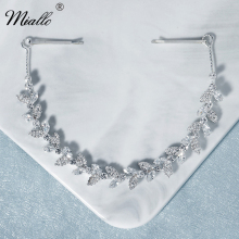 Crystal Headband Jewelry Headpiece Hair-Accessories Bridal-Hair Wedding Silver-Color