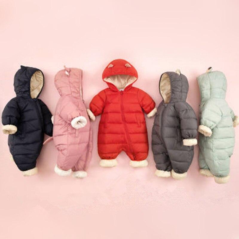 Новинка 2019 г.; детская Милая пуховая цельнокроеная Одежда для мальчиков и девочек