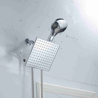 GYTB Rain Shower Head Home Hotel Bathroom Large Panel Shower Silvery Metal