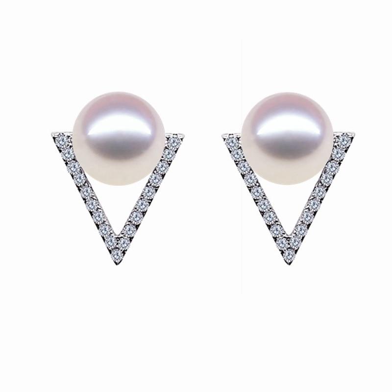 925 ezüst természetes gyöngy fülbevalók nőknek 9-10mm - Finom ékszerek