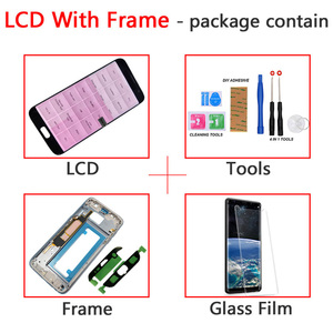 Image 5 - ORIGINAL 5.5 SUPER AMOLED Red Burn LCD with frame for SAMSUNG Galaxy s7 edge G935 G935F Touch Screen Digitizer Display