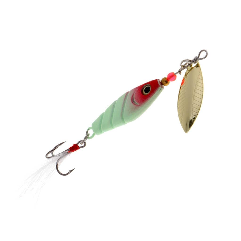 Señuelo de pesca de Metal luminoso Spinnerbaits cucharas de salmón de trucha