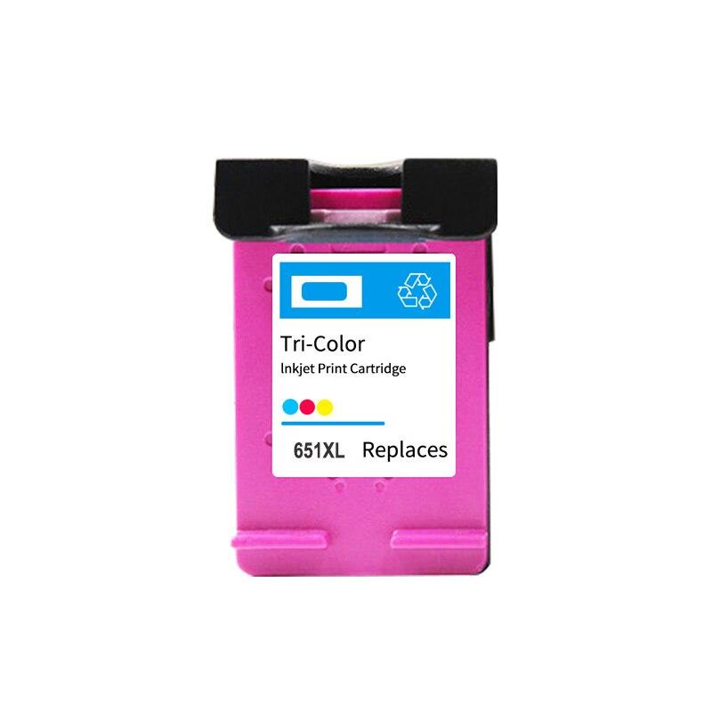 Einkshop 651xl cartucho de inyección de tinta tricolor reemplazo para HP 651XL Deskjet 5645 5575 Office ejet 202 202c 252 252C