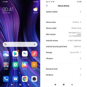 Глобальная версия смартфона Xiaomi Mi Note10 Lite 6 ГБ 64 Гб Snapdragon 730G 64MP камера 6,47 ″ дисплей 5260 мАч аккумулятор NFC