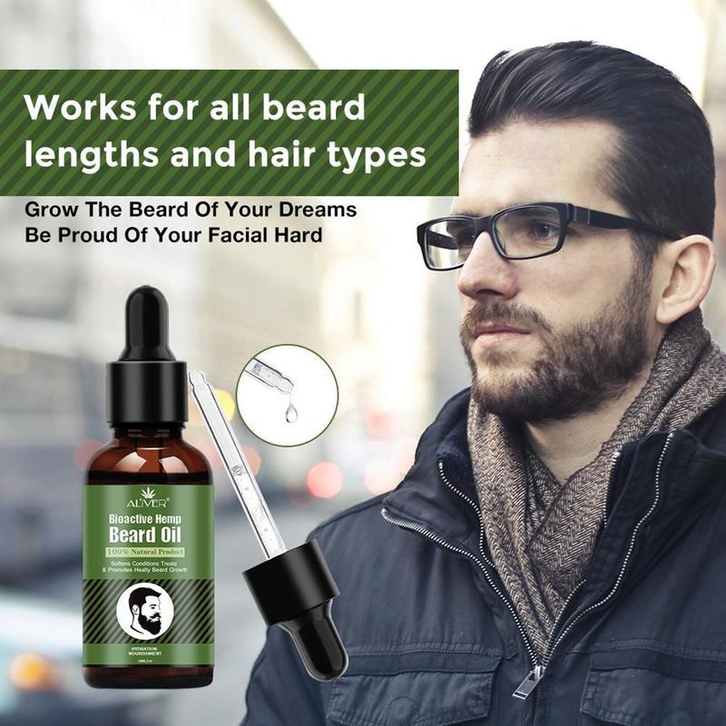 Aliver Hanf Bart Öl Reparatur Öl Natürliche Organische Enhancer Schnurrbart Ernährung Pflege Werkzeug Bart Anti-Haarausfall Produkte