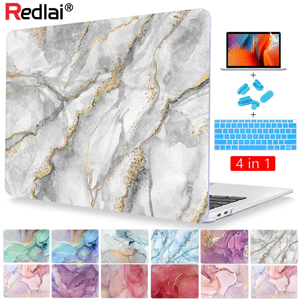 Redlai Marmer Plastic Laptop Case Voor Macbook Air 13 Inch A2179 A1932 A1466 Hard Shell Cover Voor Mac Pro 13 15 16 Inch Touch Bar