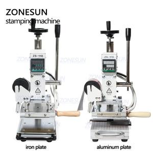 Image 2 - ZONESUN ZS110 กด TRAINER เครื่องกดความร้อนสำหรับไม้กด PVC กระดาษโลโก้ที่กำหนดเองทำฟอยล์ร้อนเครื่องปั๊ม 300W