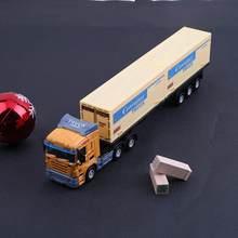Conteneur de Transport européen alliage camion véhicule modèle voiture jouet Simulation voiture jouet cadeau pour enfants (couleur aléatoire)
