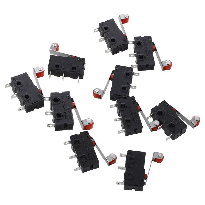 11 Pcs 1NO 1NC SPDT Momentary Long Hinge Lever Micro Switches AC 125V 1A