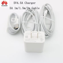 Original huawei carregador rápido 5 v 4.5a eua plug usb tipo-c cabo adaptador de carga rápida para mate9 10 companheiro 20 x p30 p20 pro p10 plus