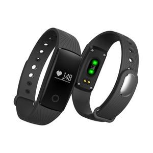 Image 5 - PK ID107 Heart Rate Smart Bracelet Watch Heart Rate Monitor Pedometer Smart Band Wireless Fitness Tracker Wristband