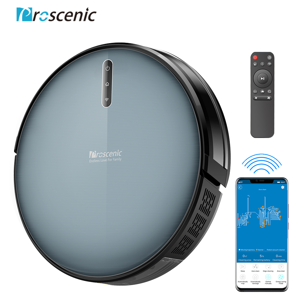 Proscenic 830P Robot Vacuum Cleaner 2000PA Vacuum Sweep Mop Clean 3in1 600ML Dust Box For Home Pets Hair Carpets And Hard Floors