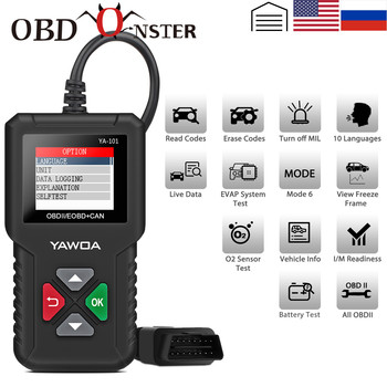 Car Doctor Full OBD2 scanner YA101 OBDII Engine Error Code Reader Car Diagnostic tool Multilingual PK AD310 AL319 OM123 ELM327 1