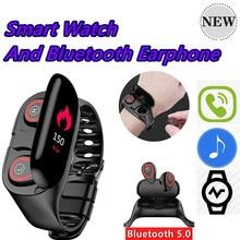 M1 новейший 2 в 1 AI Смарт-часы с Bluetooth наушниками монитор сердечного ритма Смарт-браслет длительное время ожидания спортивные часы для мужчин
