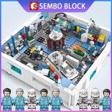 Sembo космическая капсула 4 в 1 1006 шт строительных блоков