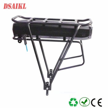 Rear rack ebike battery pack 36V 48V 15Ah 17Ah 20Ah 22Ah 24Ah 28Ah 30Ah with luggage rack and charger image