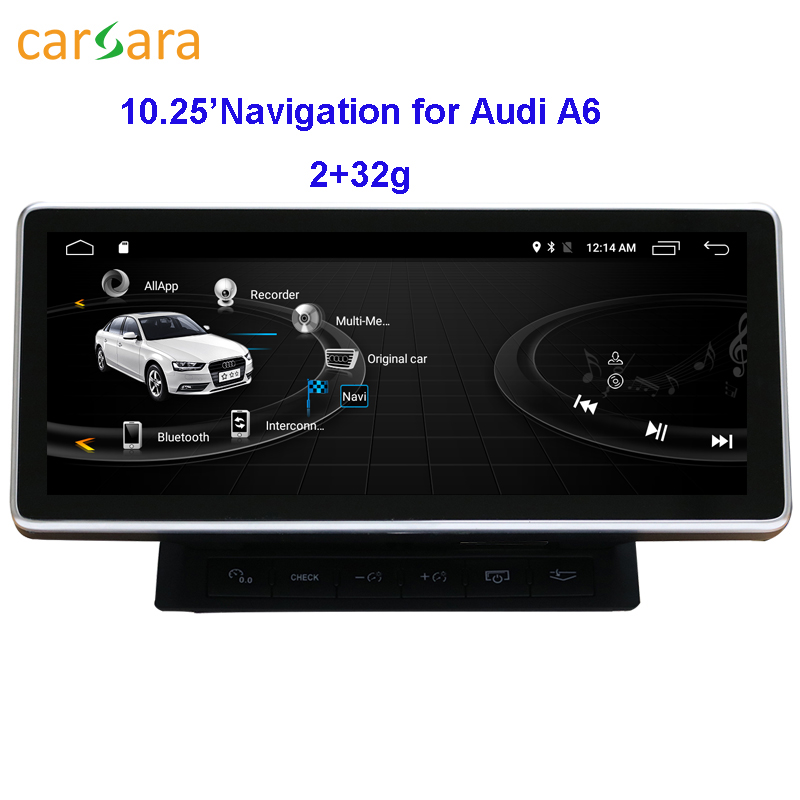 Au di <font><b>A6</b></font> Dashboard Multimedia <font><b>10.25</b></font> Wide Touch Aftermarket Screen 2G RAM 32G ROM image