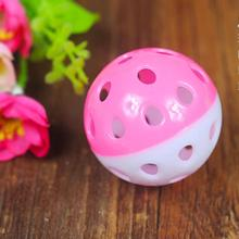 Plastic Puppy Cat Round Play Ball with Bell Pounce Rattle Pet Chew Toys pounce little kitten