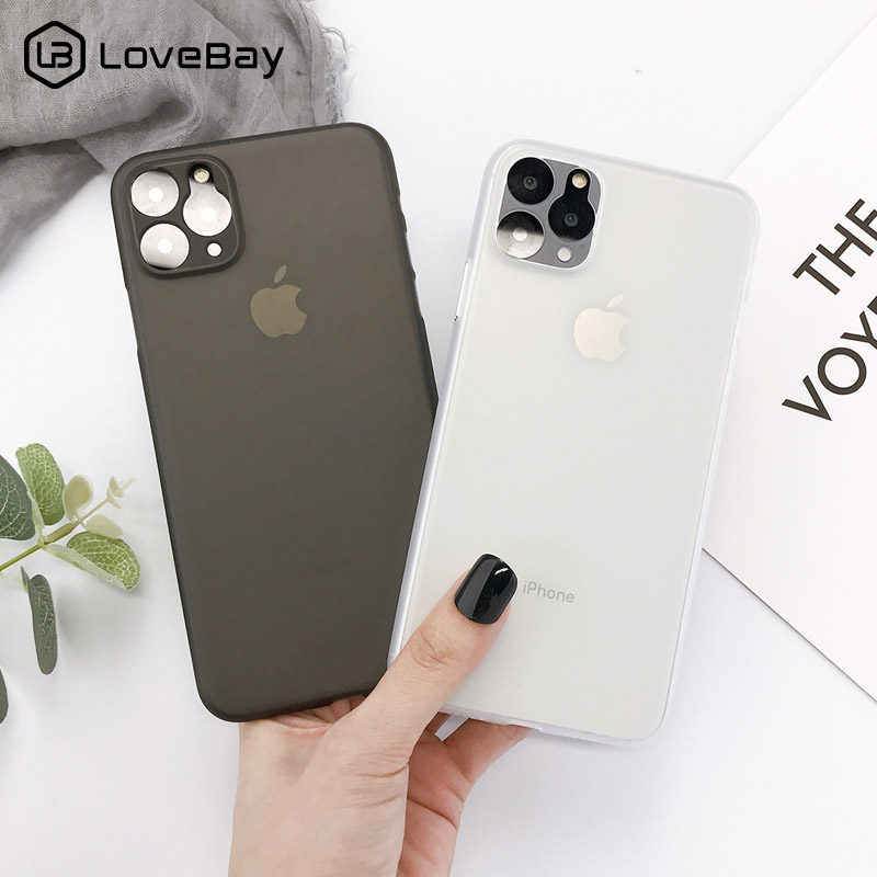 Lovebay Ultra Tipis untuk iPhone 11 11 Pro Max 7 8 6 6 S Plus X XR XS max Candy Shockproof Slim Matte Hard Pc Back Cover