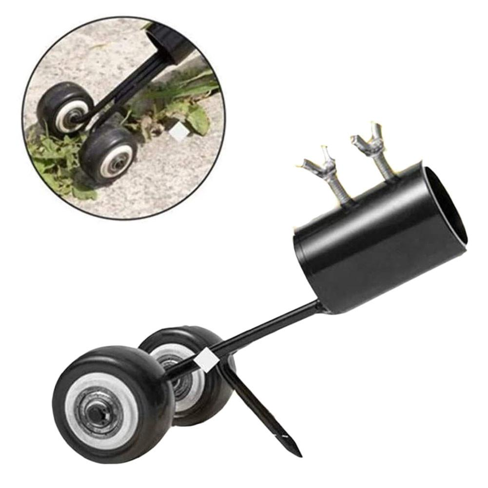 Portable Grass Trimmer Lawn Weed Cutter Weeder With Wheel Weed Puller Tool With Long Handle Weed Remover Gardening Weeding Tool