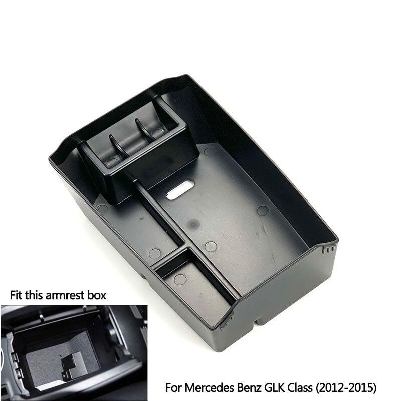 لمرسيدس بنز GLK الفئة X204 GLK200 220 250 300 350 مسند الذراع المركزي صندوق تخزين حاوية علبة حاوية الملحقات