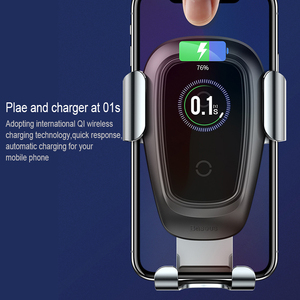 Image 3 - Baseus Qi Wireless Charger Car Phone Holder For iPhone Samsung Huawei Air Vent Mount Phone Car Holder Stand Bracket Car Accesori