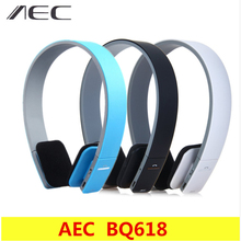 цена на AEC BQ618 Smart Wireless Bluetooth Stereo Headset Headphone with MIC Support 3.5mm Stereo Audio Handsfree for Phone Tablet PSPs