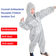 Coverall Antibacterial Reusable Children Kids Protective Isolation Suit Integrated Hood Flexible Elastic Sleeves Pants Design