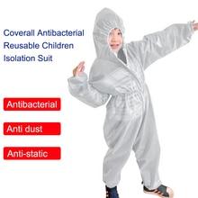 Kombinezon antybakteryjny wielokrotnego użytku dziecięcy kombinezon ochronny dla dzieci zintegrowany kaptur elastyczne elastyczne rękawy spodnie Design