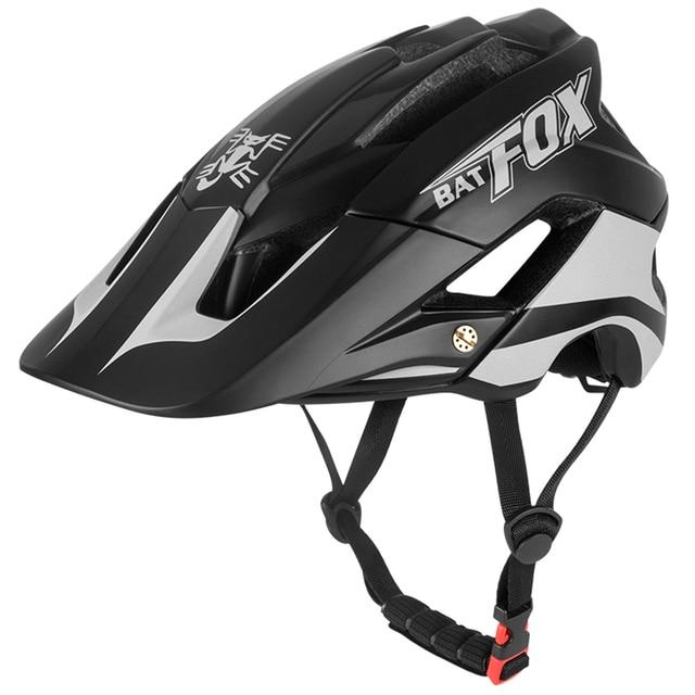 Batfox bicicleta das mulheres dos homens capacete de bicicleta ultra-leve estrada capacete de alta qualidade moldagem geral mtb ciclismo capacete casco 1