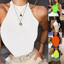 2020 Lady sexy Bodysuit Sleeveless Button Shirt Playsuit Rom
