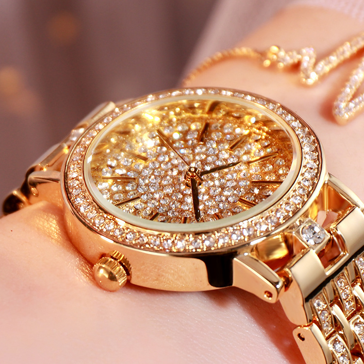 Women Watches Luxury Fashion 2020 Waterproof Quartz Wristwatches Ladies Watch Gypsophila Diamond Watch Gold Clock Reloj Mujer