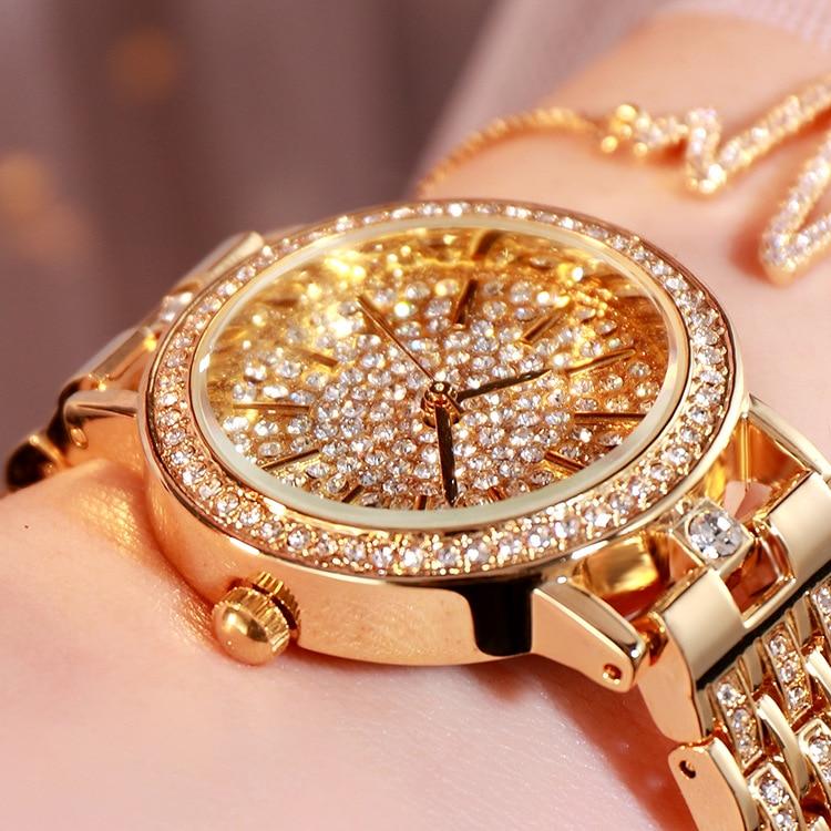 Women Watches Luxury Fashion 2020 Waterproof Quartz Wristwatches Ladies Watch Gypsophila Diamond Watch Gold Clock Reloj Mujer