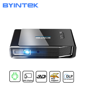 Image 1 - BYINTEK R15 Full HD 1080P Mini 3D 4K 5G Smart Wifi Android Beamer Portable LED DLP Projector Proyector for 300inch Home Theater