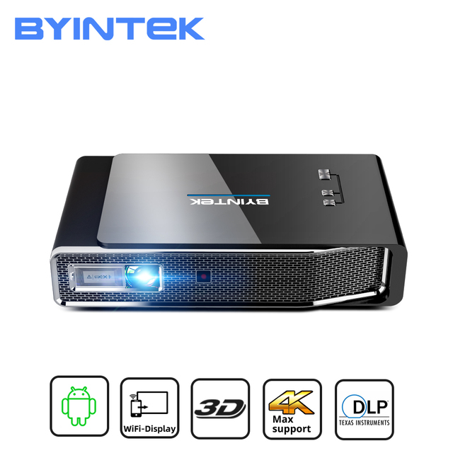 BYINTEK R15 Full HD 1080P Mini 3D 4K 5G Smart Wifi Android Beamer Portable LED DLP Projector Proyector for 300inch Home Theater