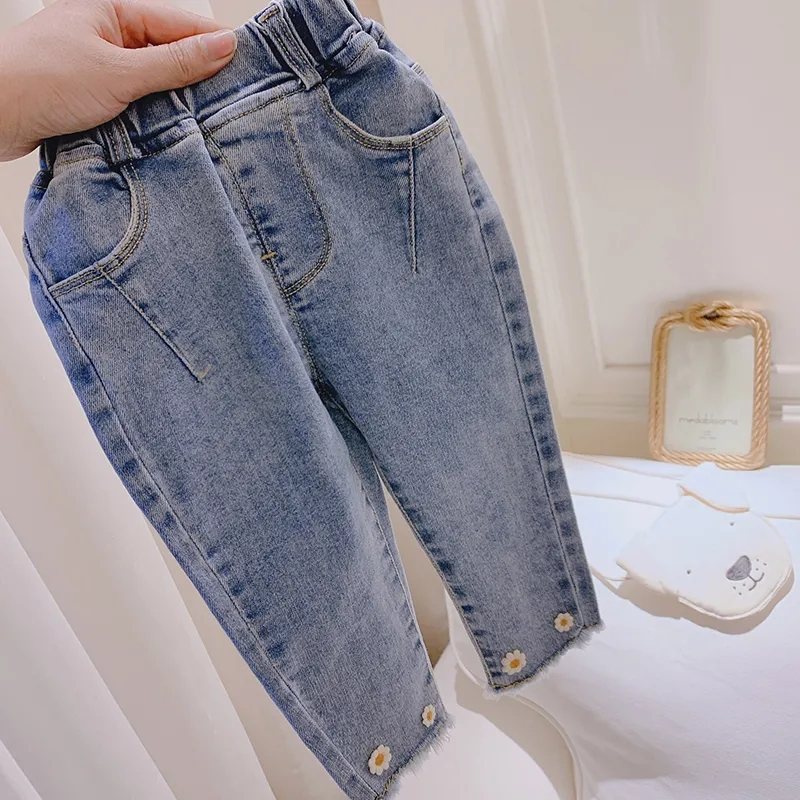 Джинсы для девочек джинсы 2020 Новинка весны Штанишки для малышей Детская одежда, верхняя одежда, штаны для маленьких девочек штаны От 0 до 7 лет|Джинсы| | АлиЭкспресс