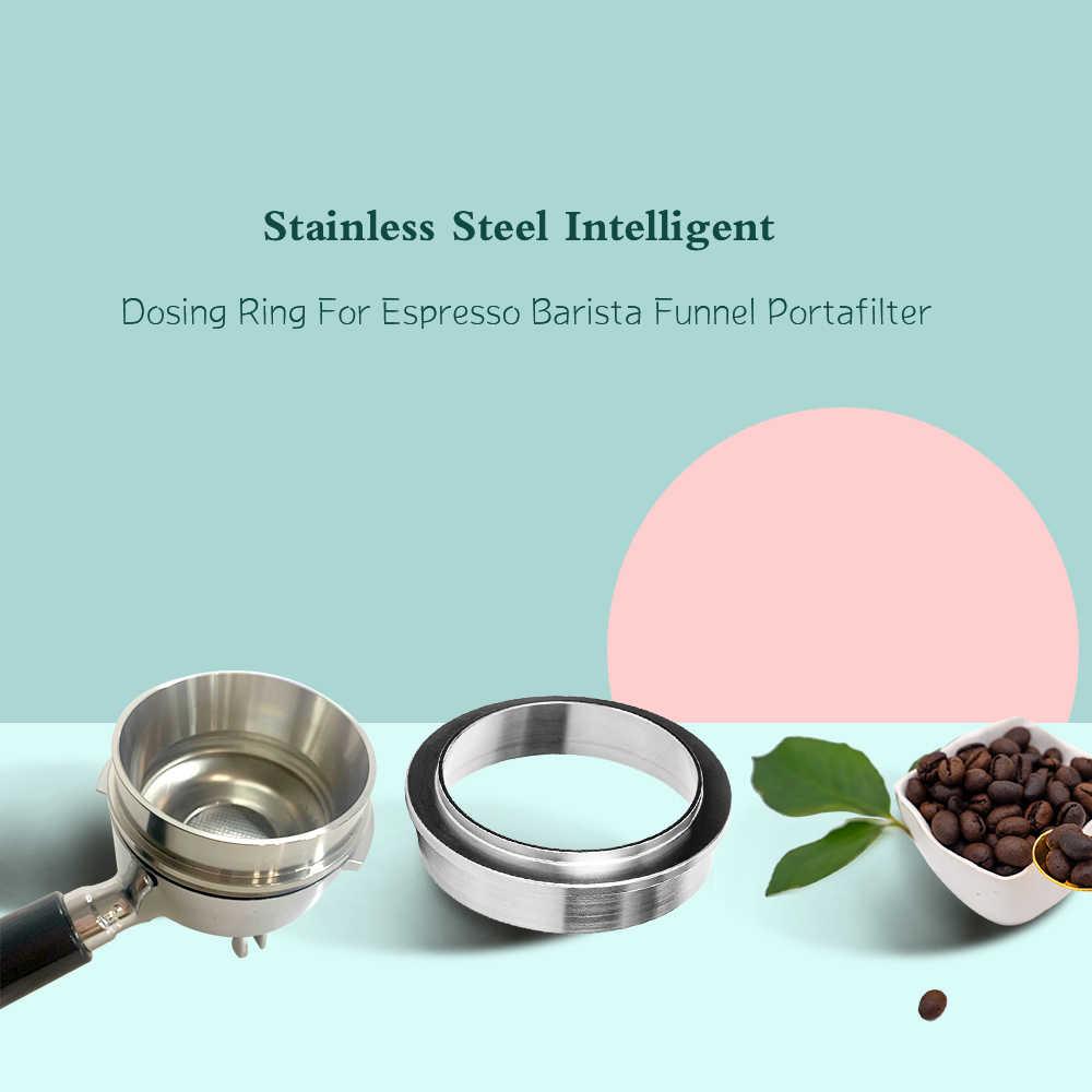 KongLyle Embudo dosificador de caf/é de acero inoxidable de 58 mm compatible con portafiltro de 58 mm