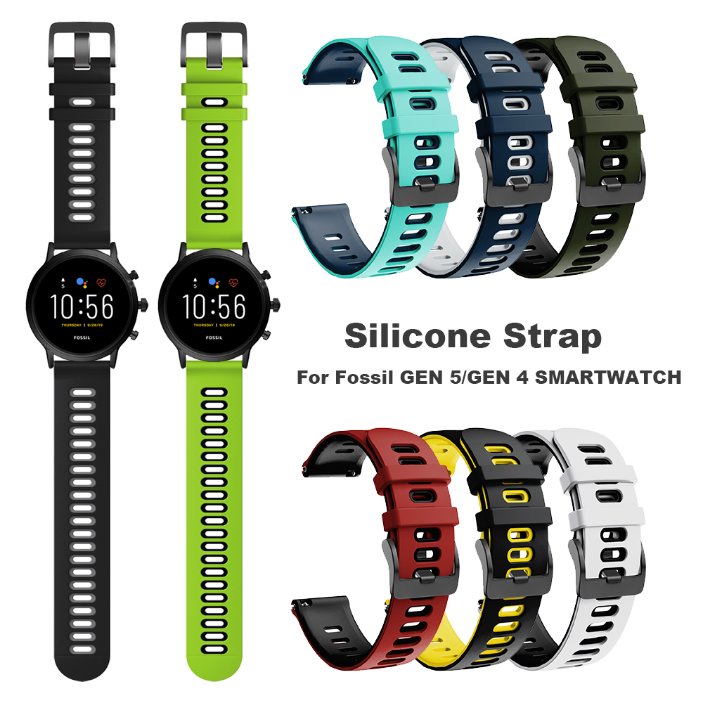 Silicone Band For Fossil Sport 43mm Dial / GEN 5 / 4 SMARTWATCH Strap FTW4012 FTW4018 FTW4024 Watchband Bracelet ремешок Correa