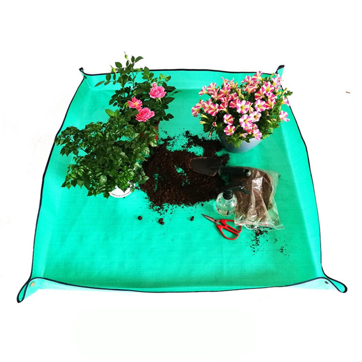 Mix Soil Flower Basin Gardening Pad Thicken Foldable Plant Change Transplanting Pot Reusable Land Mat Lock Waterproof Cushion 1